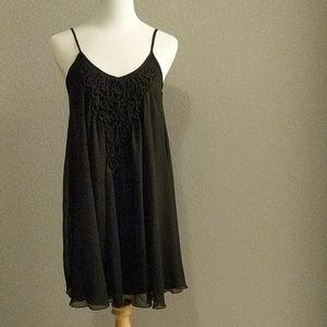 Express Black Slip Chiffon Dress